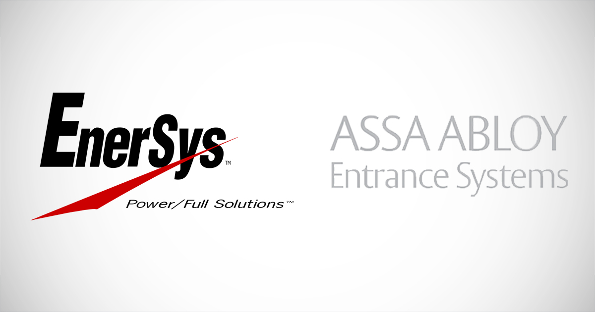 New Clients EnerSys and ASSA ABLOY